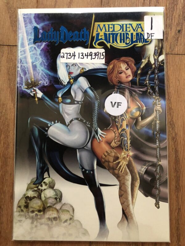 Lady Death Medieval Witchblade #1 Dynamic Forces Edition w/ COA (2001 Chaos!)