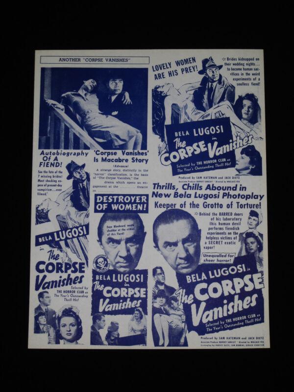 THE CORPSE VANISHES 1942 * BELA