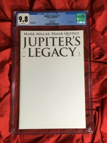 CGC 9.8~JUPITER'S LEGACY #1~BLANK~QUITELY ART~MILLAR STORY~NEW NETFLIX SHOW