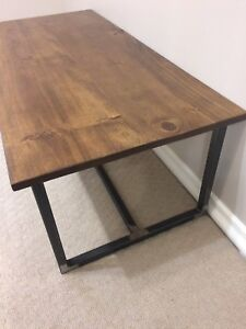 Rustic industrial coffee table $250*One Left!*
