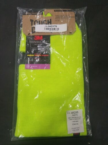 3M ToughDuck Insulated Balaclava Over The Head HighVisibilityGreen i361 One Size
