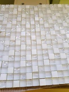 White Mosaic Feature Tiles