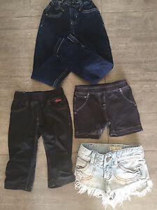 Short, jeans grandeur 3/4 a 6 ans