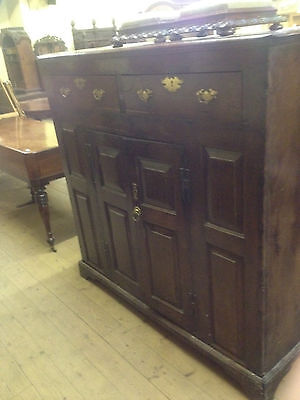 GEORGIAN III OAK COURT LIVERY CUPBOARD DRESSER C18TH WELSH CWPWRDD DEUDDARN 1