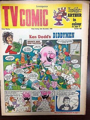TV COMIC #883 weekly British comic book November 16 1968  Avengers Doctor Who