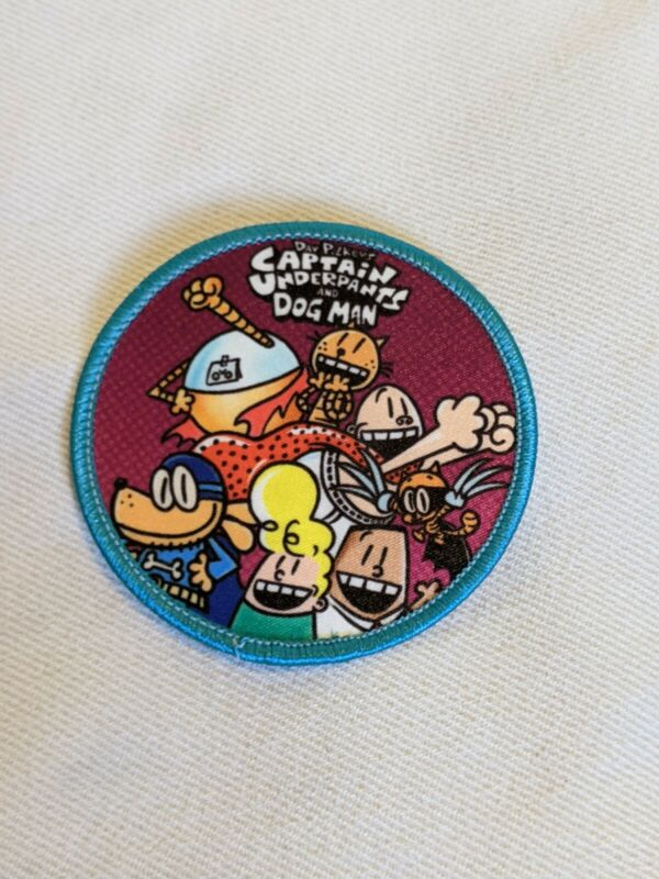 CAPTAIN UNDERPANTS AND DOG MAN IRON ON PATCH