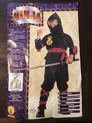 Ninja Halloween Costume Kids Large Size 12-14 Ages 8-10 - Halloween Costumes Age 12