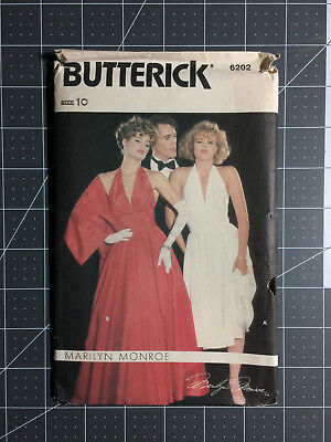 Butterick #6202 ~ Pattern Marilyn Monroe Dress ~ Misses' 10 ~ FF / UC
