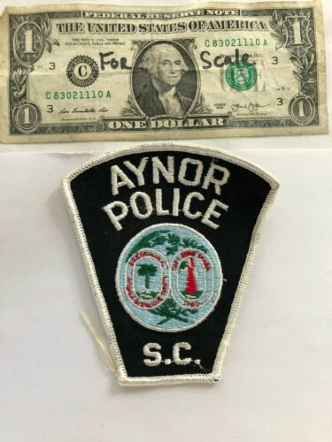 Rare Aynor South Carolina Police Patch Un-sewn great shape