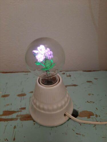 Vintage Antique Aerolux Neon Flower Bulb Porcelain Light Fixture