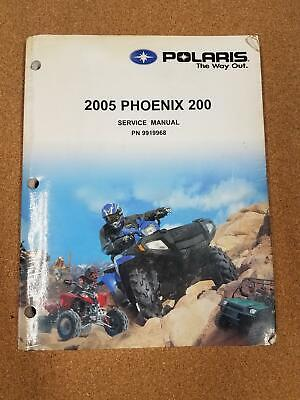 POLARIS 2005 PHOENIX 200 SERVICE MANUAL WITH CD P/N 9919968