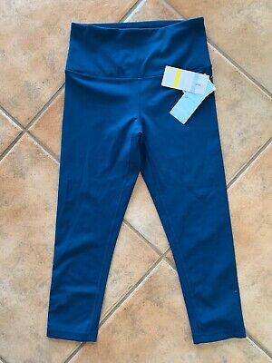 Zella Womens Sz S Crop Leggings High Support Aurora Blue High Waisted