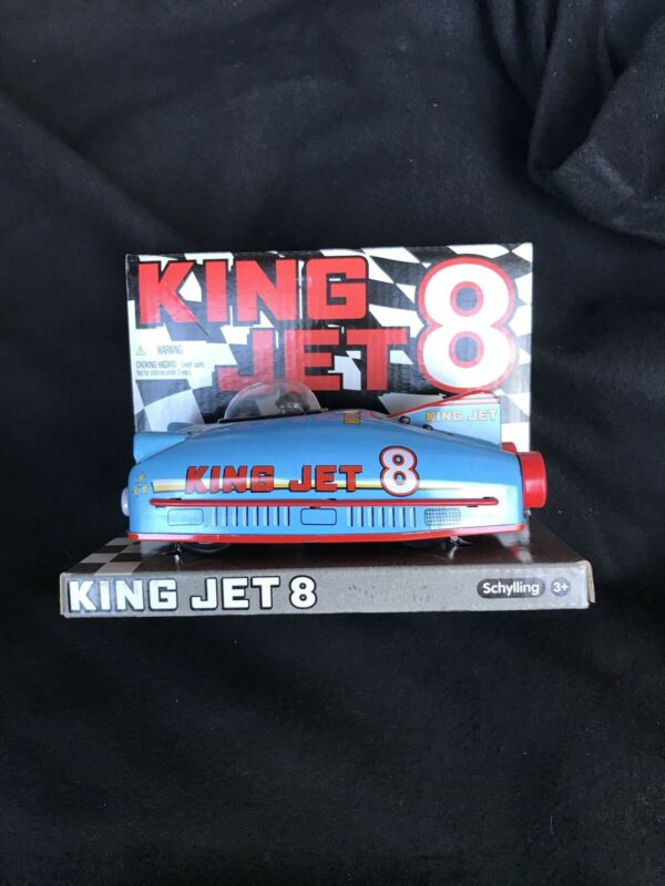 Lot Of 6 - Tin Toy Schylling King Jet 8 Race Car Of The Future Friction Drive