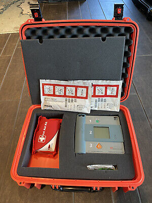 Philips Heartstart Onsite Aed Defibrillator W Pelican Hard Waterproof Case