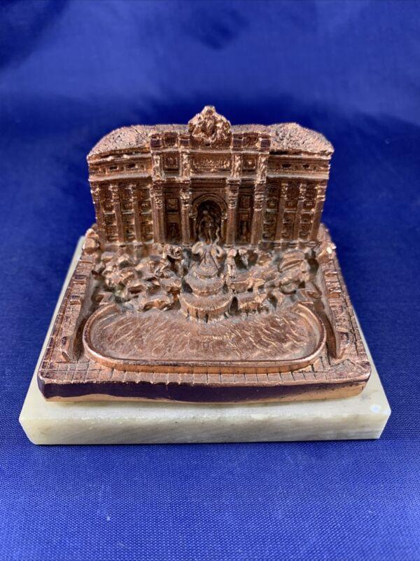 Vintage Trevi Fountain Italy Souvenir Building