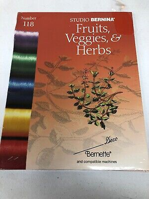 Bernina Deco Brother Babylock Embroidery Designs Memory Card #118 Fruits Veggies ()
