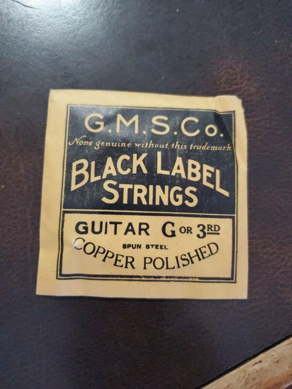 Vintage NOS G.M.S. Co. Black Label Guitar G 3rd Strings Copper