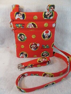 eme Fabric Crossbody Bag w/adj strap (Super Mario Theme)
