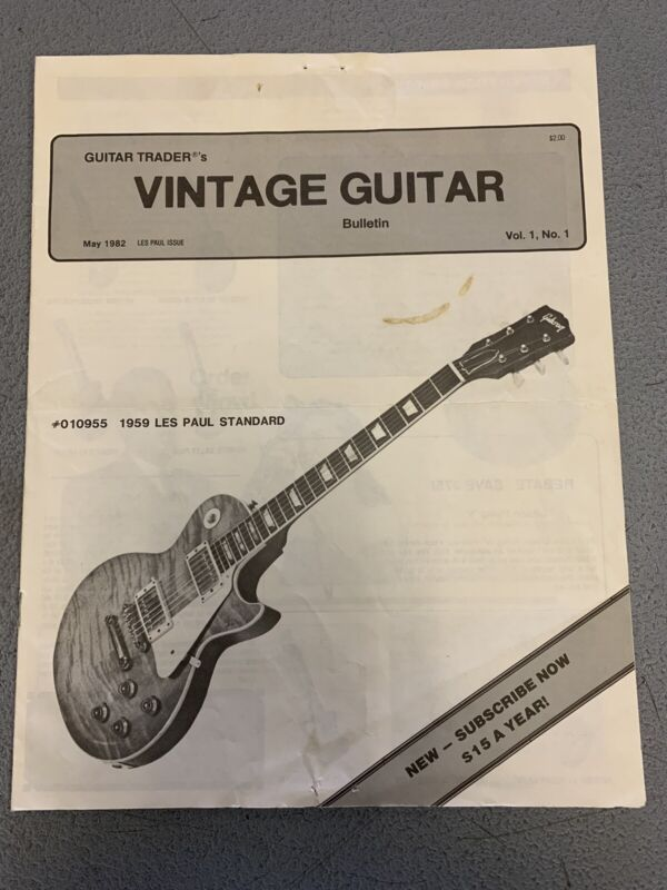 1982 Guitar Trader's Vintage Guitar Bulletin Vol 1 No 1