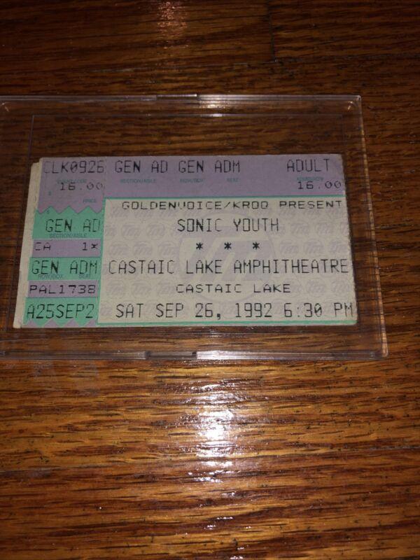 Nirvana Kurt Cobain Rare Ticket Stub Pearl Jam Soundgarden Sonic Youth AIC OOP