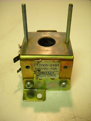 Used Contact Industries Ct200a-24b1 10av95-10a Forklift Coil And Mounting Frame