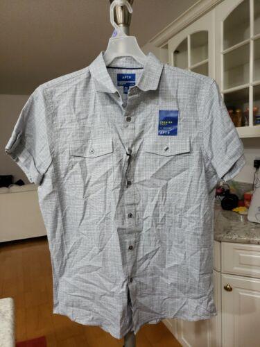NWT APT 9 Men's Short Sleeve Dress Shirt Medium M Slim Fit B