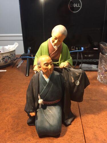 Hakata Urasaki Dolls Man and Woman Vintage Japan