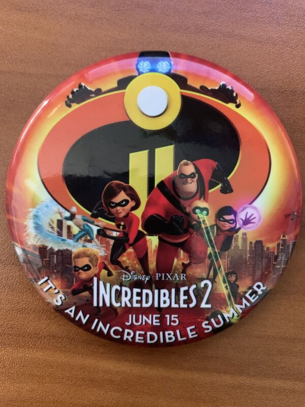 """Disney Parks Incredibles 2 Button 3"""" Movie Hollywood Studios New Epcot Magic"""