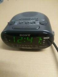Sony Dream Machine Dual Alarm FM/AM Clock Radio Black ICF-C318