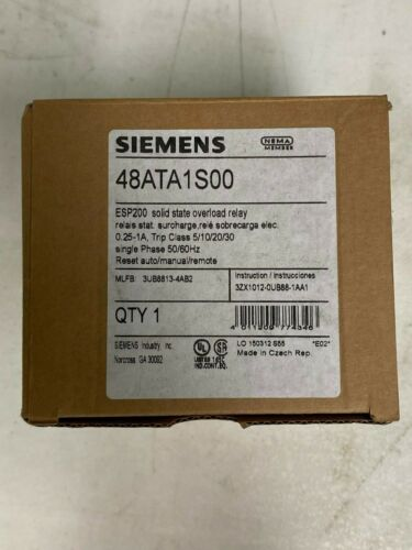 SIEMENS 48ATA1S00 ESP200 solid state overload relay - 0.75-3.4AMPS