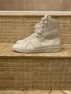 ih nom uh nit Made In Italy Size 10 White Leather Shoes 9.5/10 Condition!