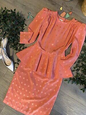 80s Dresses   Casual to Party Dresses Genuine VINTAGE 80s DRESS - STUNNER - Shoulder Pads PEPLUM So - A RICH -MINT CON $66.03 AT vintagedancer.com