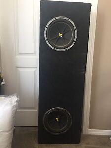"2 10"" kicker subs & box for sale"