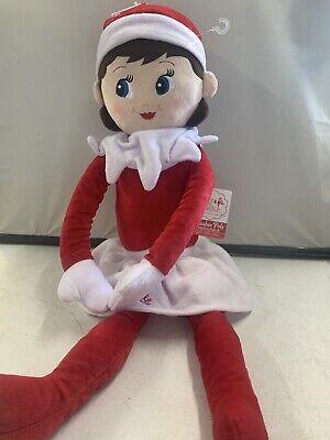"""The Elf on the Shelf Plushee Pals Blue Eyed Light Skin Girl Doll Huggable 27"""""""