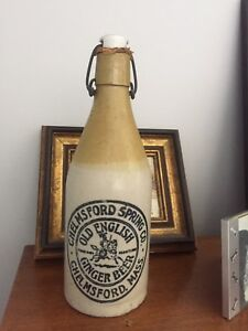 ANTIQUE GINGER BOTTLE CHELMSFORD SPRINGS MASS. EX. CONDITION