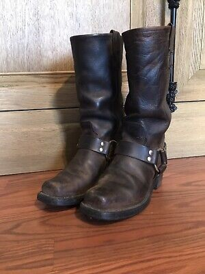 Double H Harness Motorcycle Boots Womens SZ 7 M Brown Biker Western Workwear