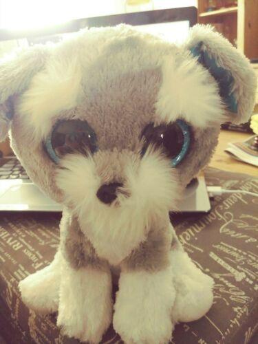 "TY Beanie Boos Buddy WHISKERS the Schnauzer Dog Stuffed Plush Toy 9"" w/ Tush tag"