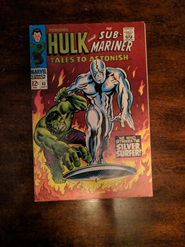 Tales to Astonish INCREDIBLE HULK and the SUB-MARINER Comic #93 Silver Surfer