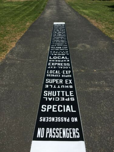 NYCTA  NYC SUBWAY SIDE ROUTE ROLL SIGN CURTAIN IRT NEW YORK CITY MANHATTAN NY