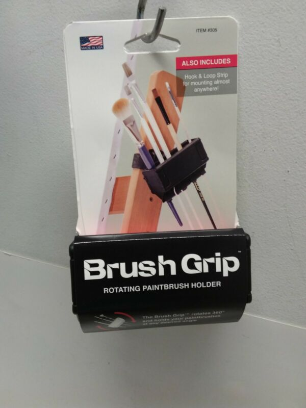 Brush Grip Rotating Paintbrush Holder Mounts To Easels Pochade Boxes Craft Easy