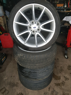 Falcon territory xr6 turbo g6e alloy wheels with tyres