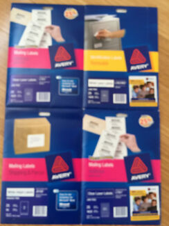 AVERY Labels - Mailing, ID, Shipping & Address ALL FOR ONLY $30 Jerrabomberra Queanbeyan Area Preview