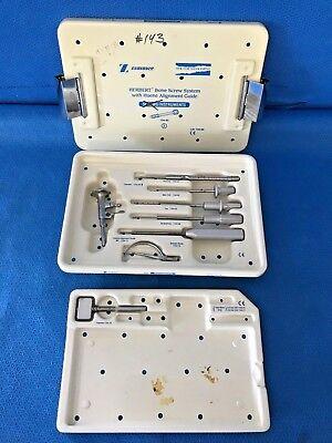 Zimmer 1154-80 Herbert Bone Screw System W Huene Alignment Guide 30 Day Warranty