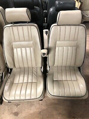 Lot74 RANGE ROVER P38 Eclectic Leather Seats Cream Van VW Camper Bus