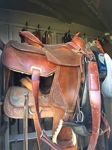 Men's Reining Saddle For Sale asking $500.00 firm