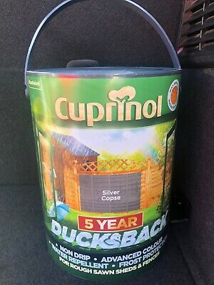 Cuprinol Ducksback Silver Copse Shed & Fence Outdoor Paint 1 x 5 litre