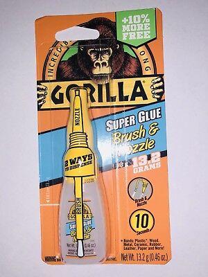 Gorilla Super Glue Brush Nozzle 10 Grams Clear