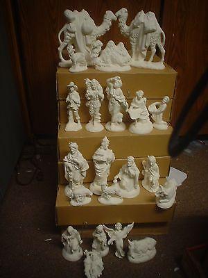 E237 - Ceramic Bisque 21 Piece Atlantic Nativity Set-U Paint