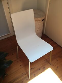 chair- white wood