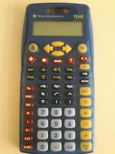 Texas Instruments TI-15 Calculator x 2 Currambine Joondalup Area Preview